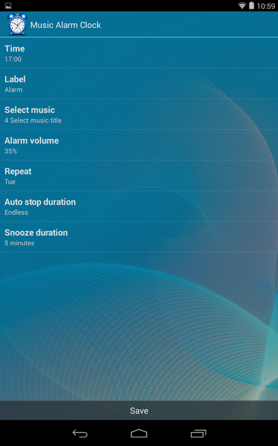 Music Alarm Clock- screenshot