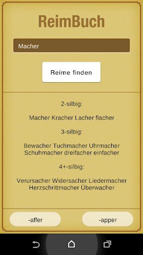 ReimBuch - Das Reimlexikon