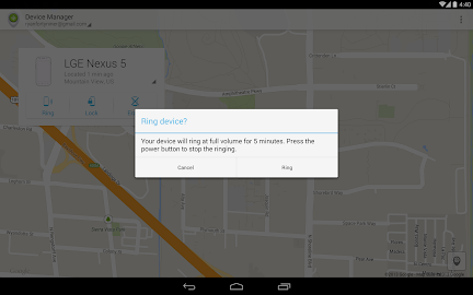 Android Device Manager Screenshot 2