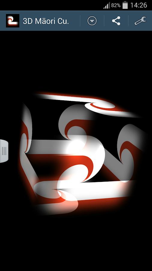 3D Māori Cube Flag LWP - screenshot