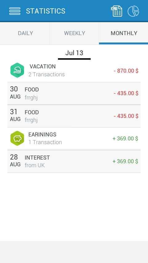iExpense Diary - screenshot