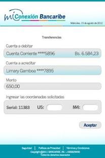 Mi Conexión Bancaribe - screenshot thumbnail