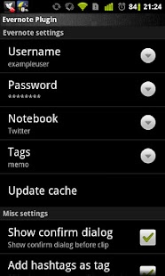 twicca - Evernote plugin- screenshot thumbnail