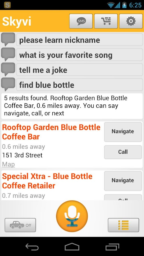 Skyvi (Siri for Android) - screenshot