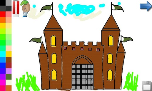 Coloring Book: House & Castle - screenshot thumbnail