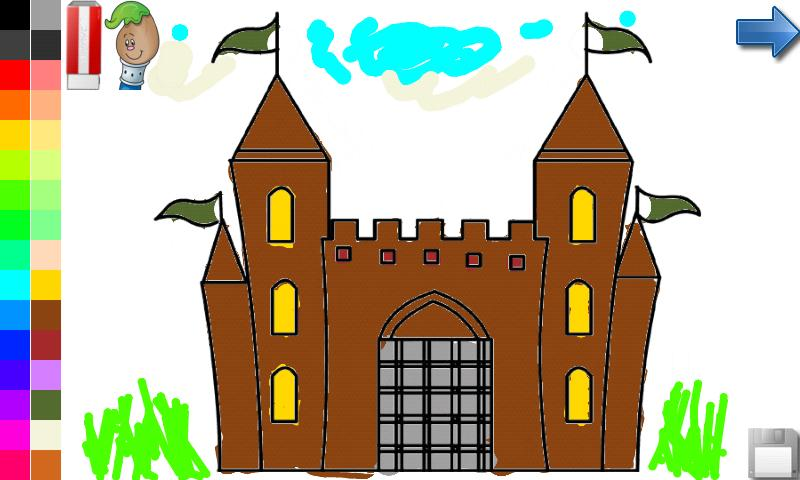 Coloring Book: House & Castle - screenshot