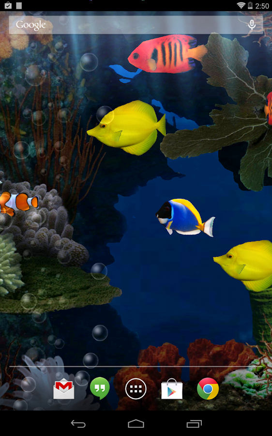 Aquarium Live Wallpaper - screenshot