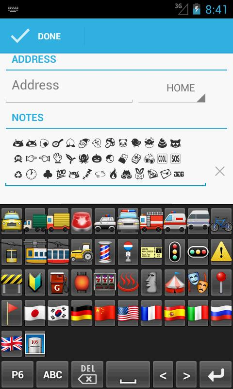 New Emoji Keyboard- screenshot