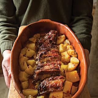 Entrecosto no Forno (Braised Spareribs and Potatoes)