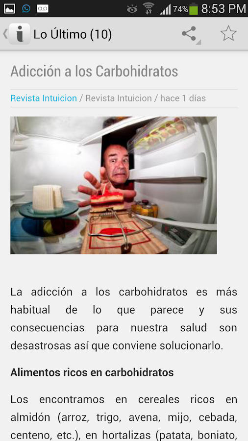 Revista Intuición - screenshot