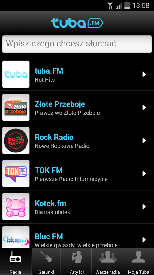 Tuba.FM - free music and radio - screenshot