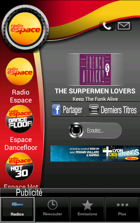 Radio Espace - screenshot
