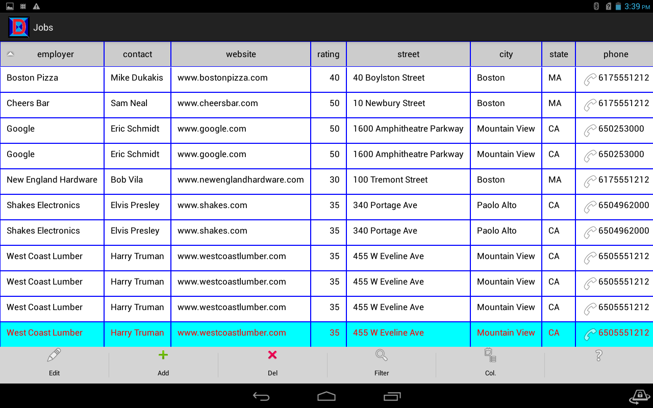 My Databases Android Apps On Google Play