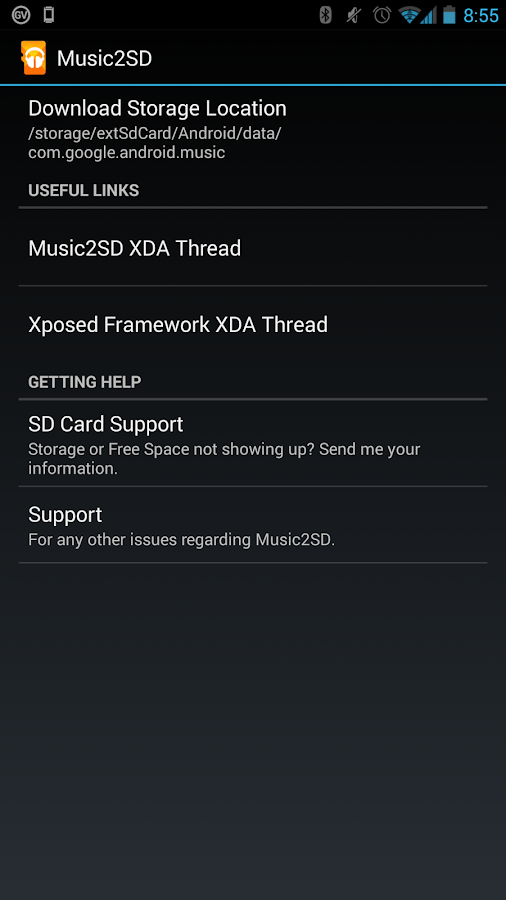 Music2SD - Xposed - screenshot