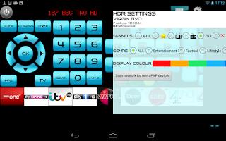 Screenshot of Remote for Virgin Media+TV+DVD