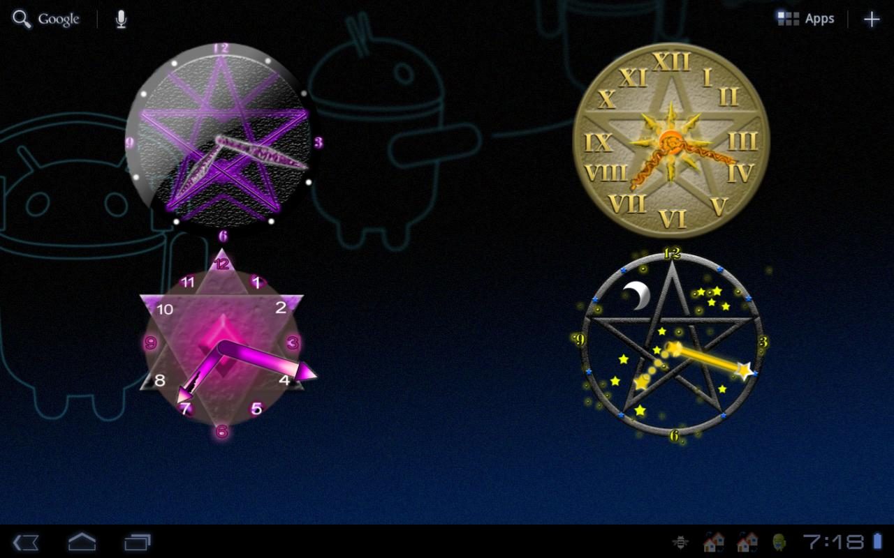 Pentacle Clock Widget HD- screenshot