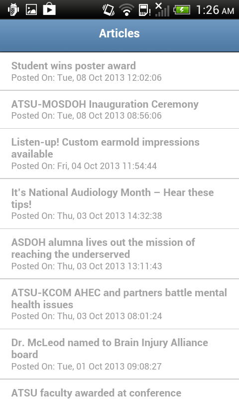 My ATSU Mobile - screenshot