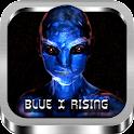 Blue X World icon