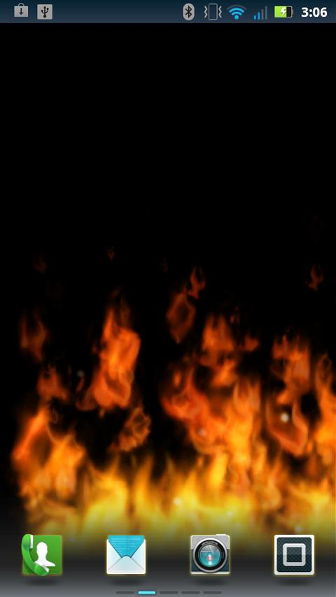 Flames Live Wallpaper (free) - screenshot