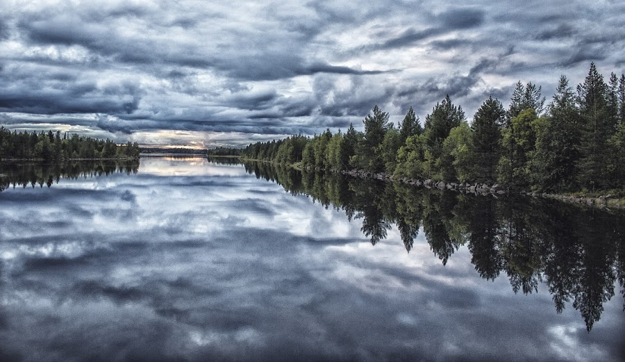 A place to heal by Erika Lorde - Landscapes Waterscapes ( calm, loud, reflection, sunset, fall, dam, still, rumble, canal )