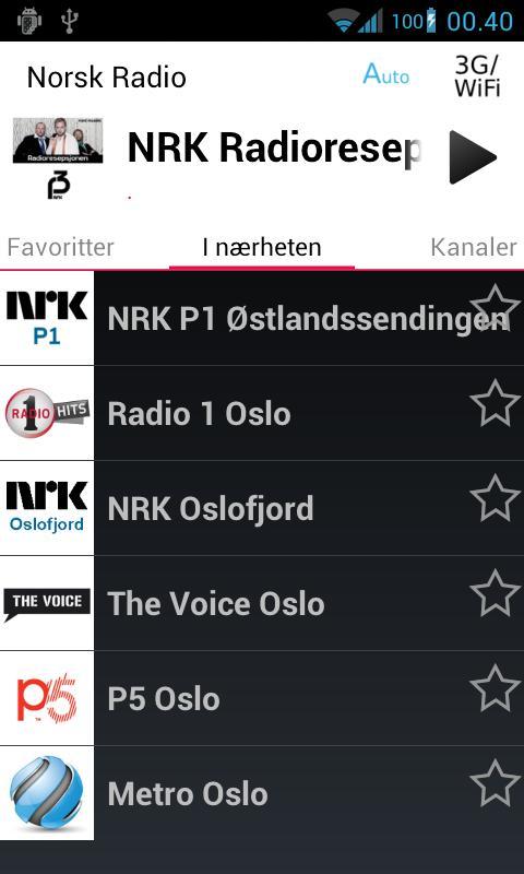 Norsk Radio- screenshot