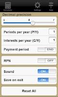 Screenshot of Financial Calculator Trial