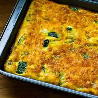 Zucchini and Green Chile Breakfast Casserole.