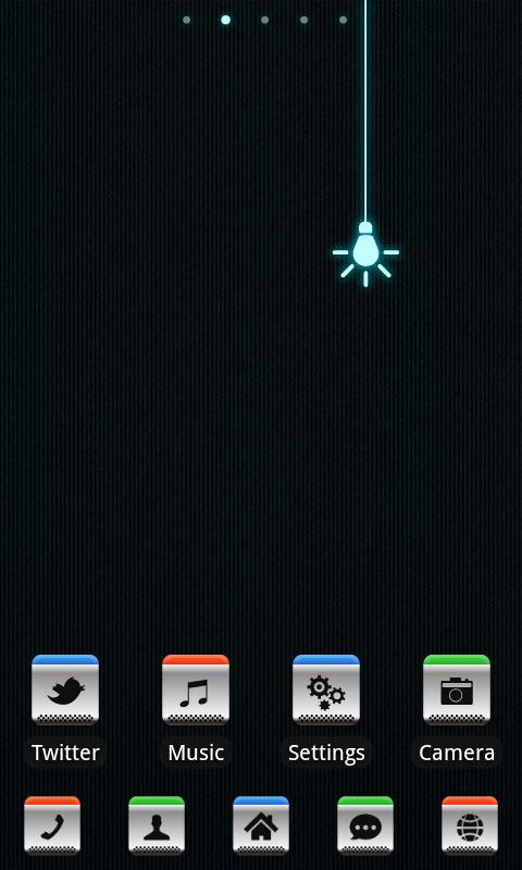 Z.Lighter GO Launcher Ex Theme - screenshot