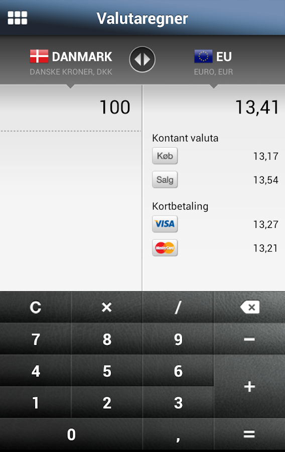 Djurslands Banks MobilBank - screenshot