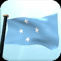 Micronésia Bandeira 3D icon