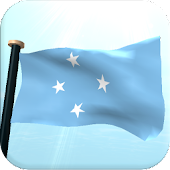Micronesia Flag 3D Wallpaper