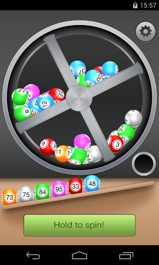 Lotto Machine - with Physics!- screenshot