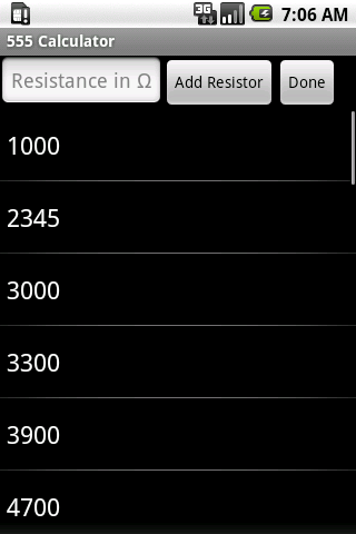 555 Timer Calculator (NE555)- screenshot