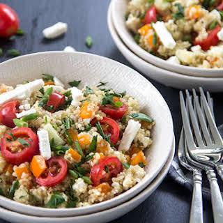 Greek Tomato-Feta Quinoa Salad.