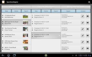 Screenshot of Open House Register