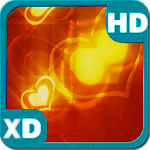 Valentine's Golden Hearts 3D
