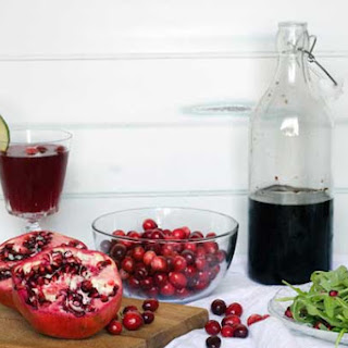 Gluten Free Cranberry Pomegranate Syrup.