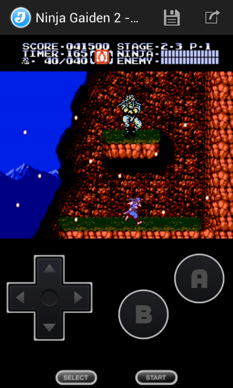 Jnes (NES Emulator) - screenshot