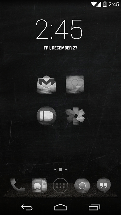 BLACK BOARD APEX/NOVA/GO THEME - screenshot
