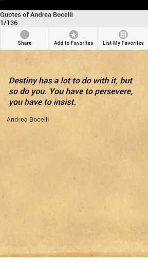 Quotes of Andrea Bocelli