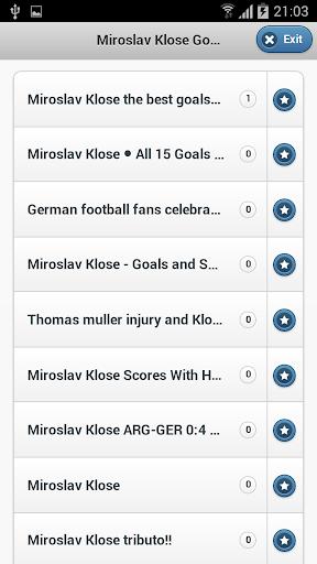 Miroslav Klose Goals
