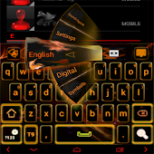 Orange Flame GO Keyboard theme