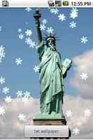 Screenshot of New York Xmas Live Wallpaper