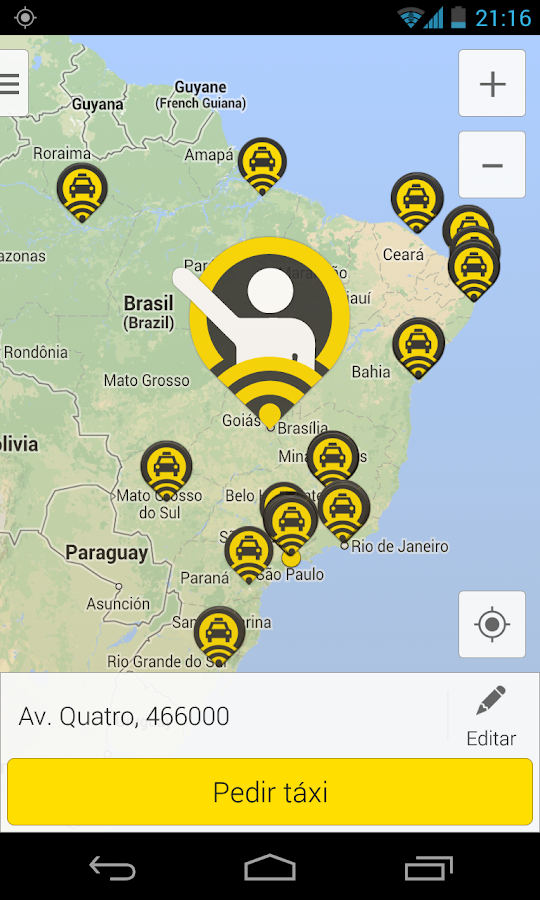 99Taxis - Taxi cab app - screenshot