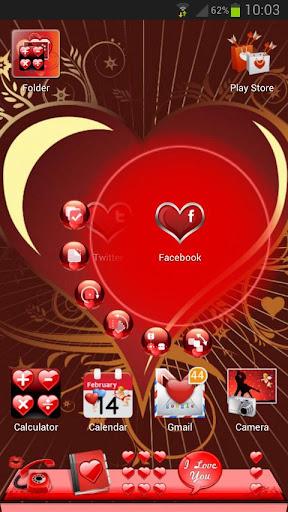 Next Launcher Valentine Theme