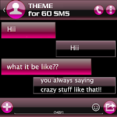 THEME FOR GO SMS AERO PINK