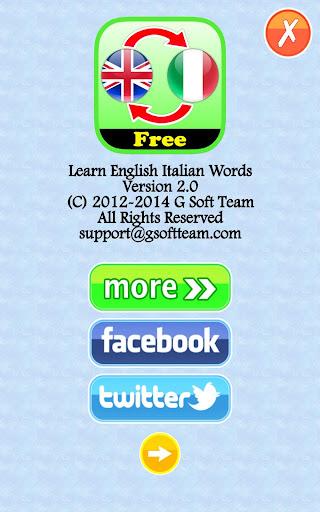 Learn English Italian Words