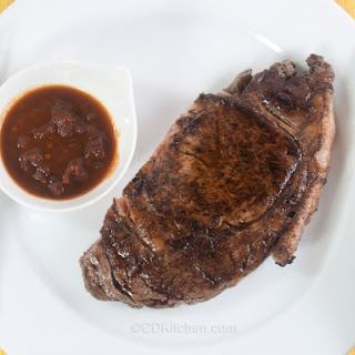 Spicy Sirloin Steak With Chipotle Sauce.