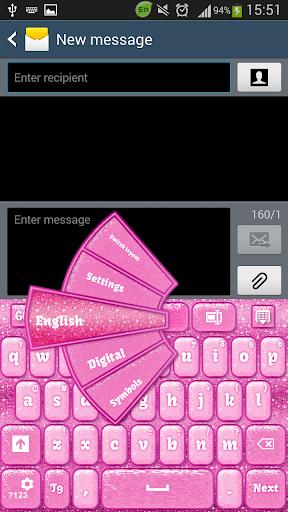 GO Keyboard Glitter