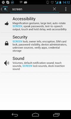 Settings Search - screenshot